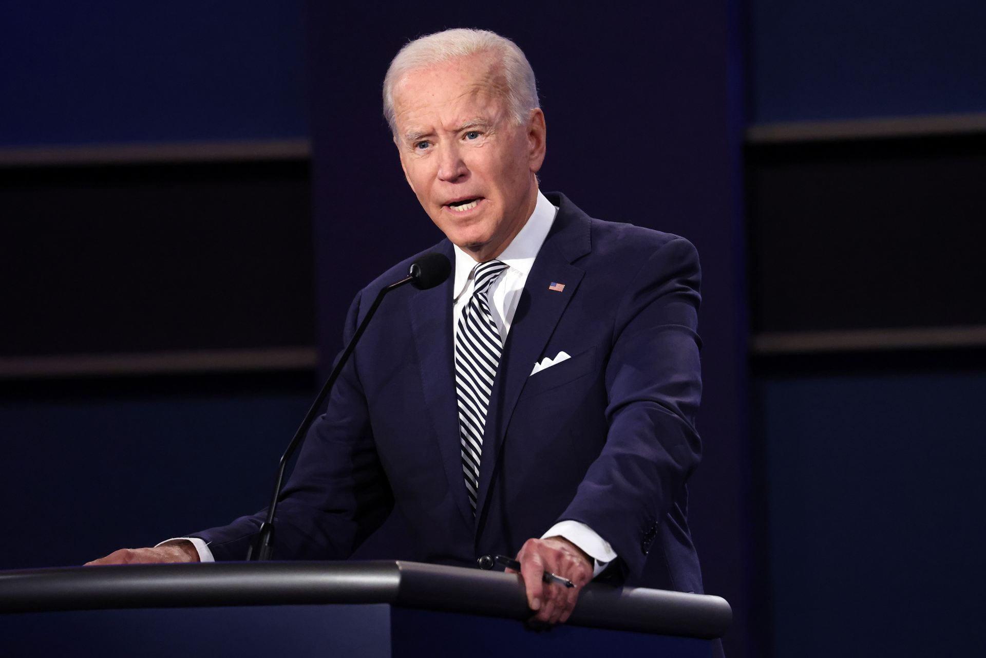 Biden speaks at debate