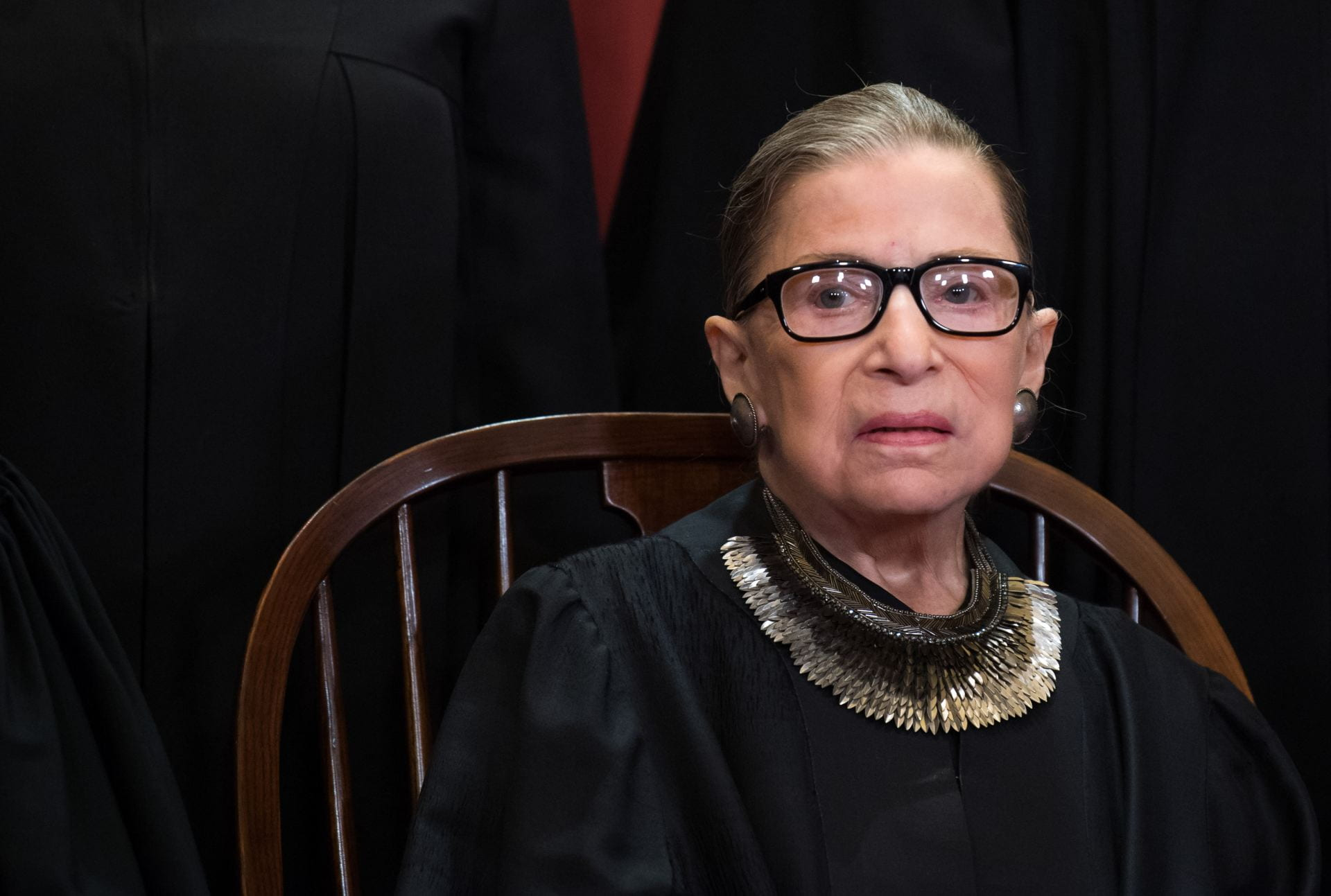 Supreme Court Justice Ruth Bader Ginsberg poses for her portrait.