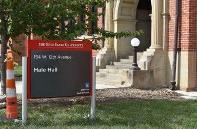 the hale hall sign