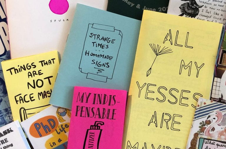 Samples of some of the quarantine zines that will be featured on Preview Night