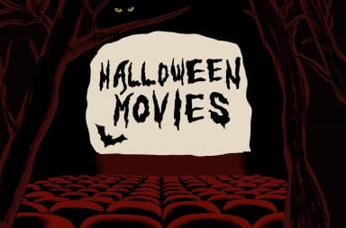 a graphic that says halloween movies