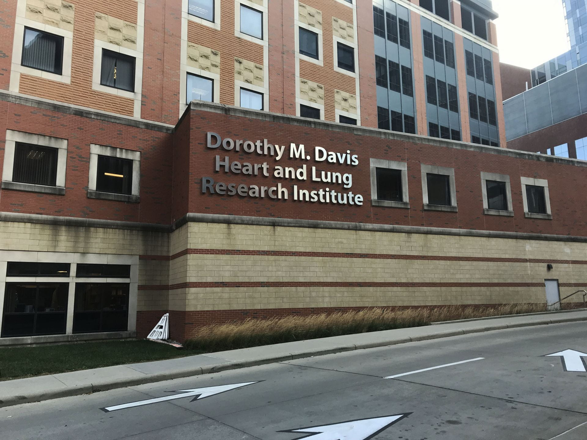 the outside of the dorothy m davis heart and lung research institute