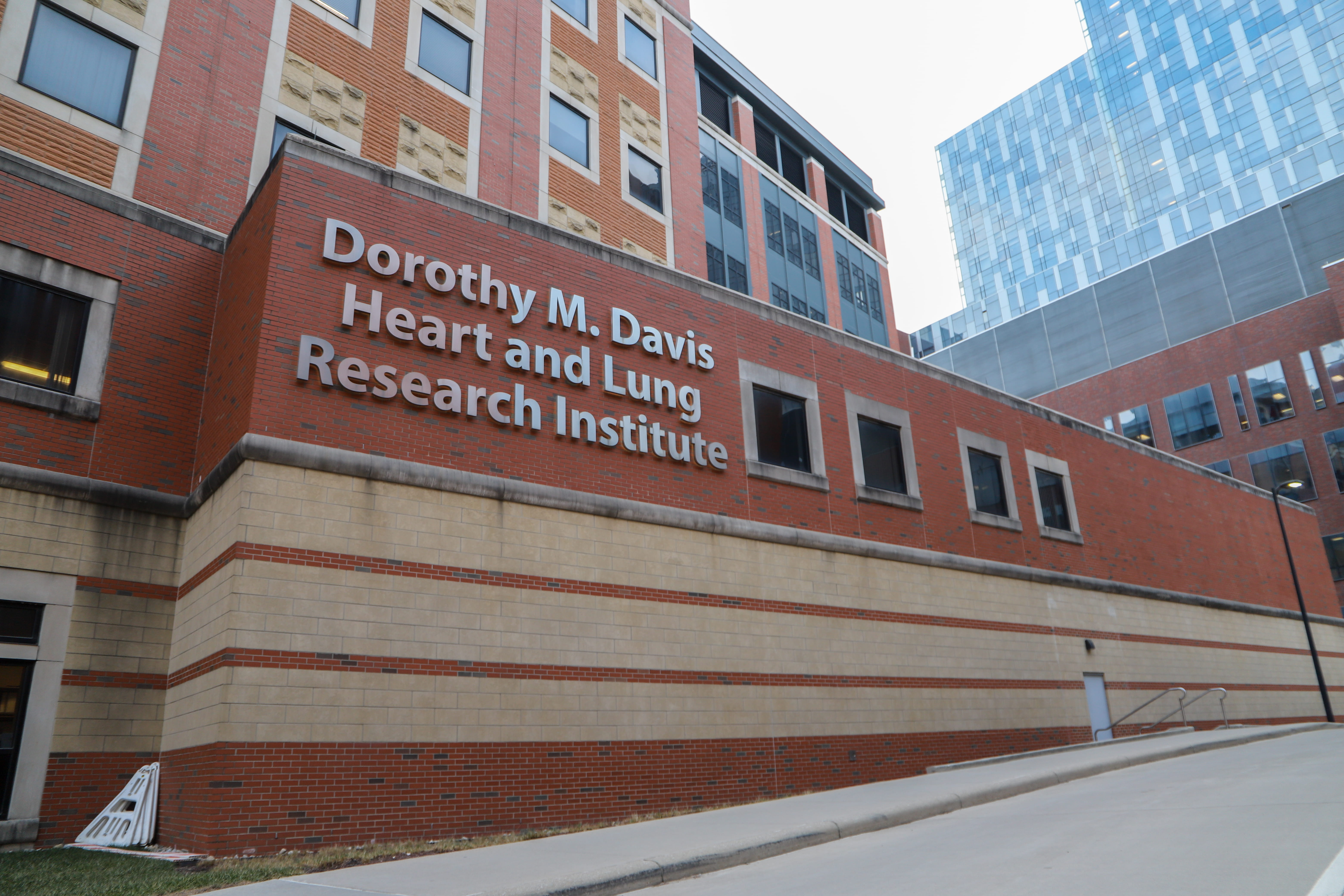The outside of the Davis Heart and Lung Research Institute