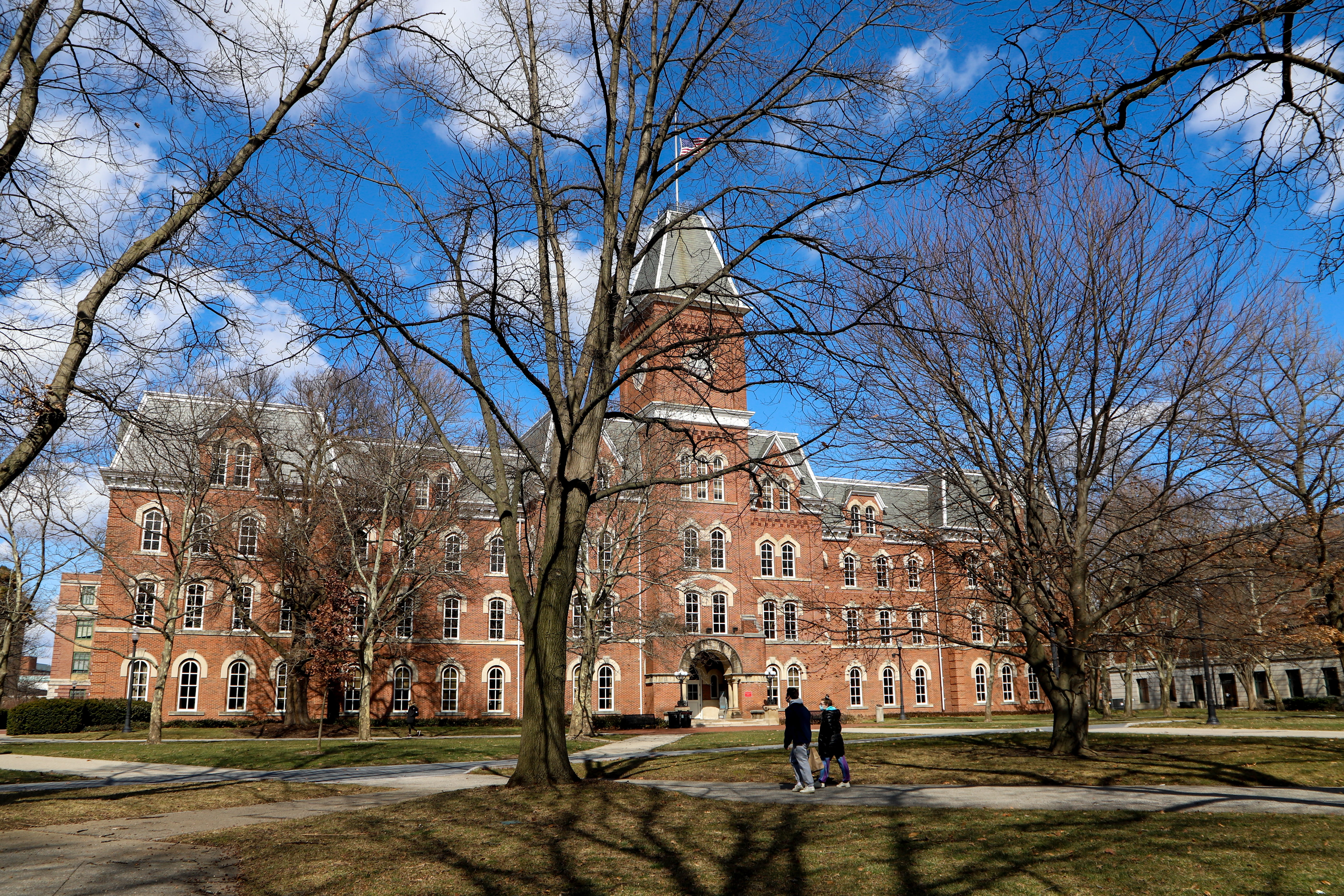 the outside of university hall