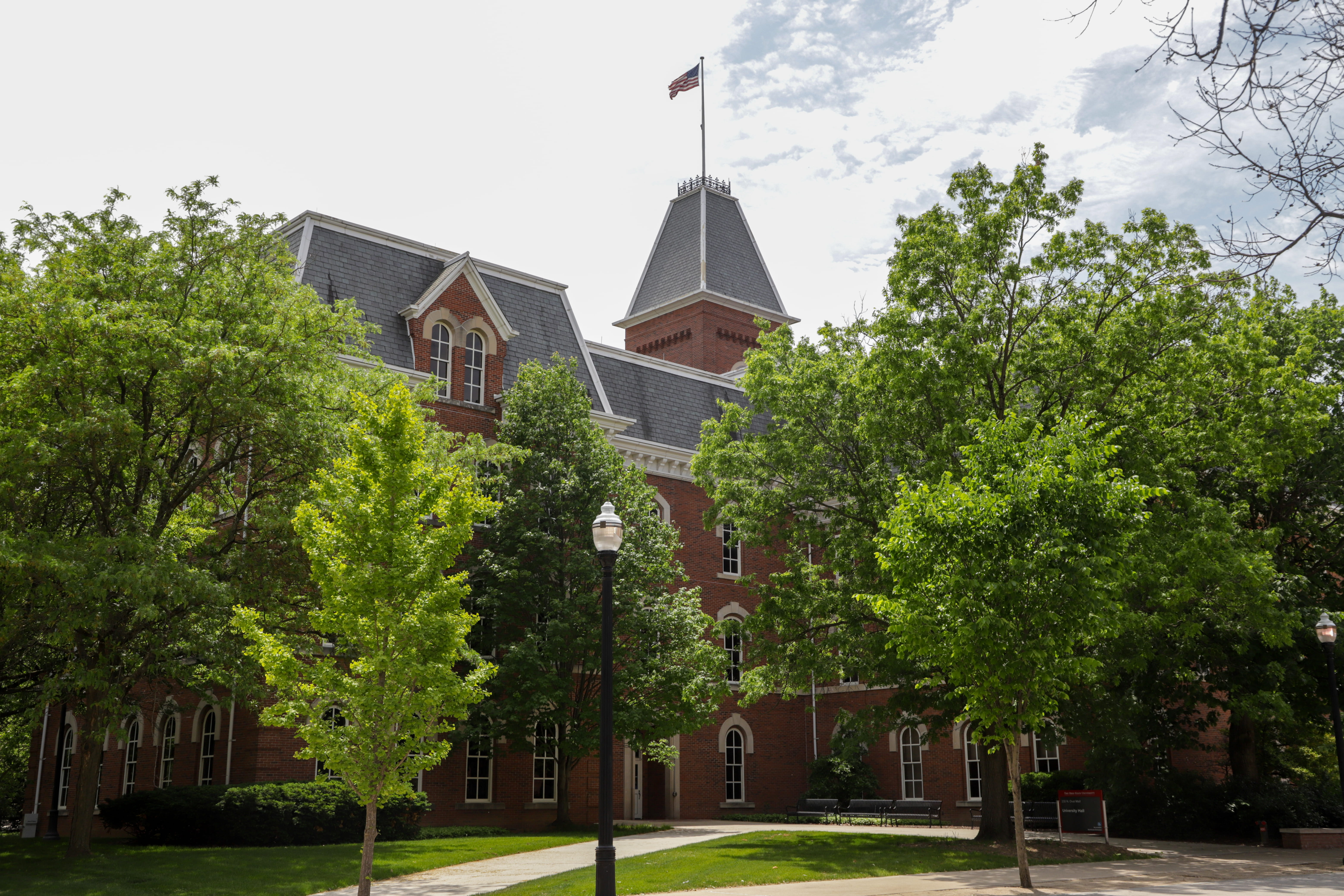 the back of university hall