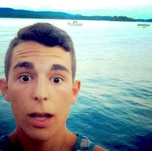 Chad Marvin, in Lake George, New York (Summer 2014).