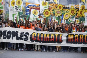 People's Climate March, NYC, September 21, 2014.