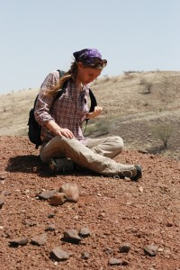 Anna Weiss, fossil hunting in Africa.