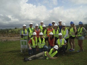 Our SBU Sustainability Studies Program Costa Rica Winter 2014 study abroad group at AeroEnergia, a wind-based Costa Rican energy company.