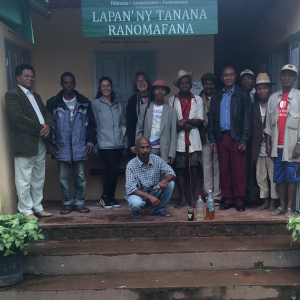 Patricia Wright and I are having a meeting with the Association of Traditional Healers in Ranomafana, Madagascar. We are helping them set up a business for selling essential oils – all of which will be used in Ny'Ala Skincare.