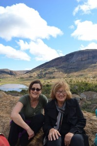 Pictured here: Drs. Heidi Hutner and Pat Wright, at Anja Community Reserve, where they saw many ring-tailed lemurs (Lemur catta) and climbed up high for a beautiful view.