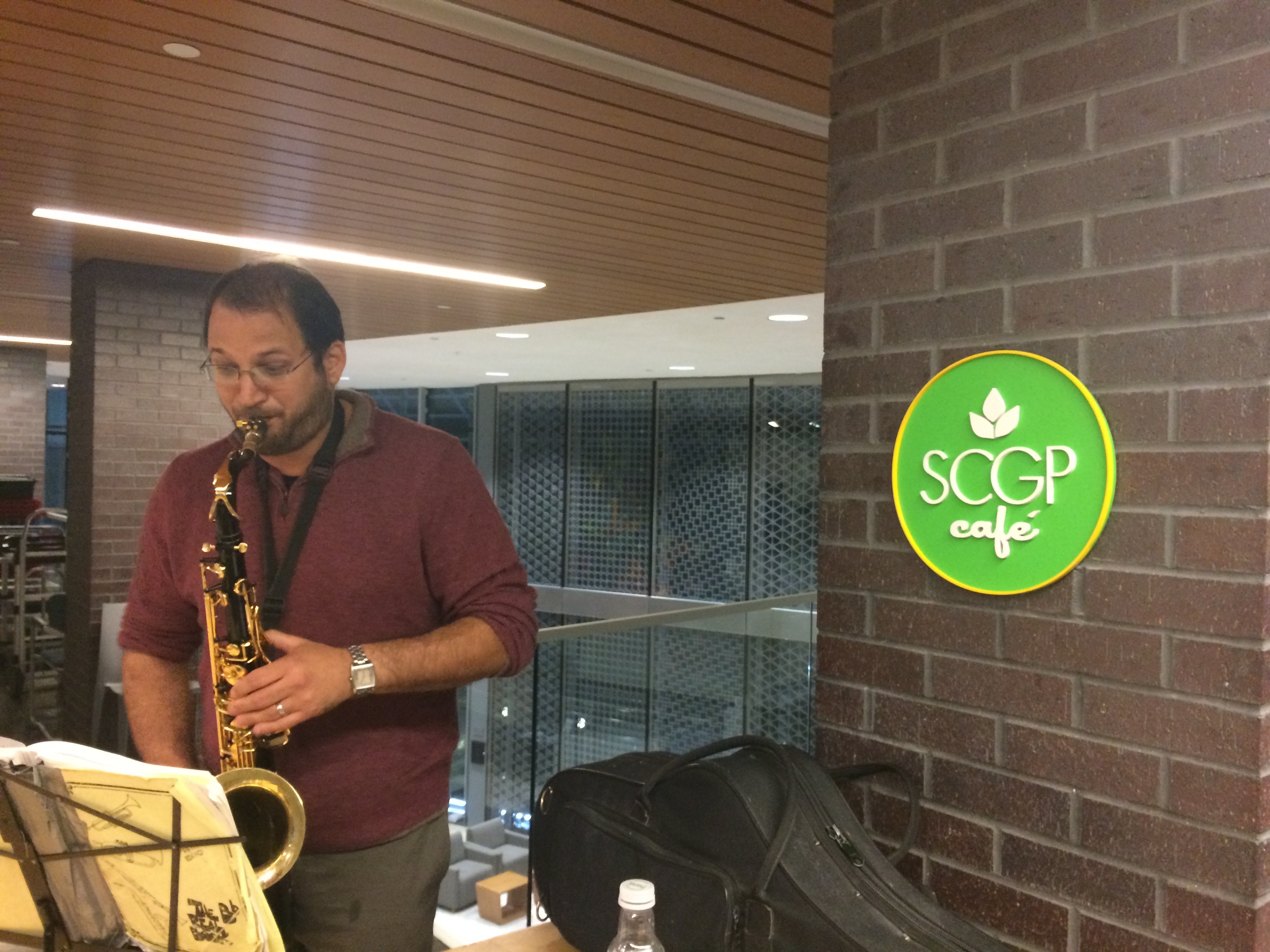 Matthew Lerner on the sax!