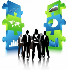 Business-People-Team-with-3D-Puzzle-Pieces