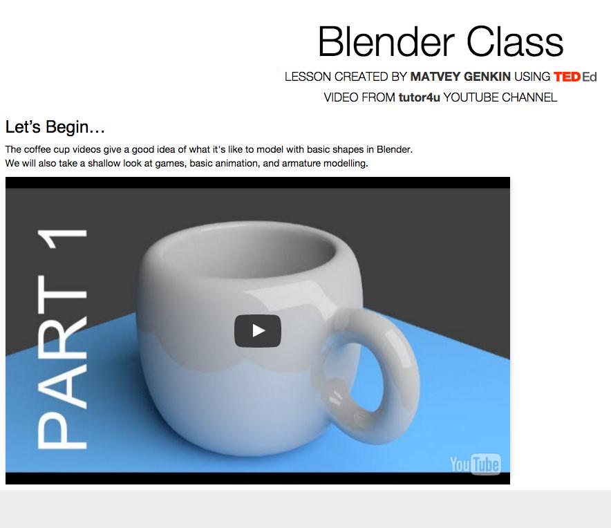Blender Basics | CDT 450 : Short Form Virtual Storytelling