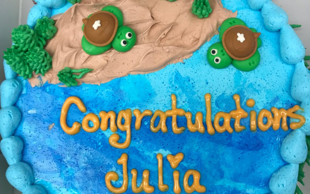 Congrats to newly-minted MS, Julia Donaton!