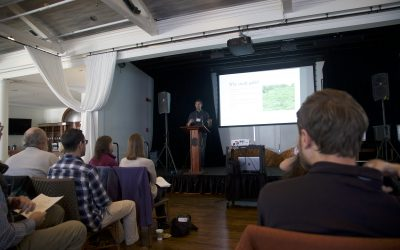 Matt Fuirst presents at the Nantucket Biodiversity Initiative Conference