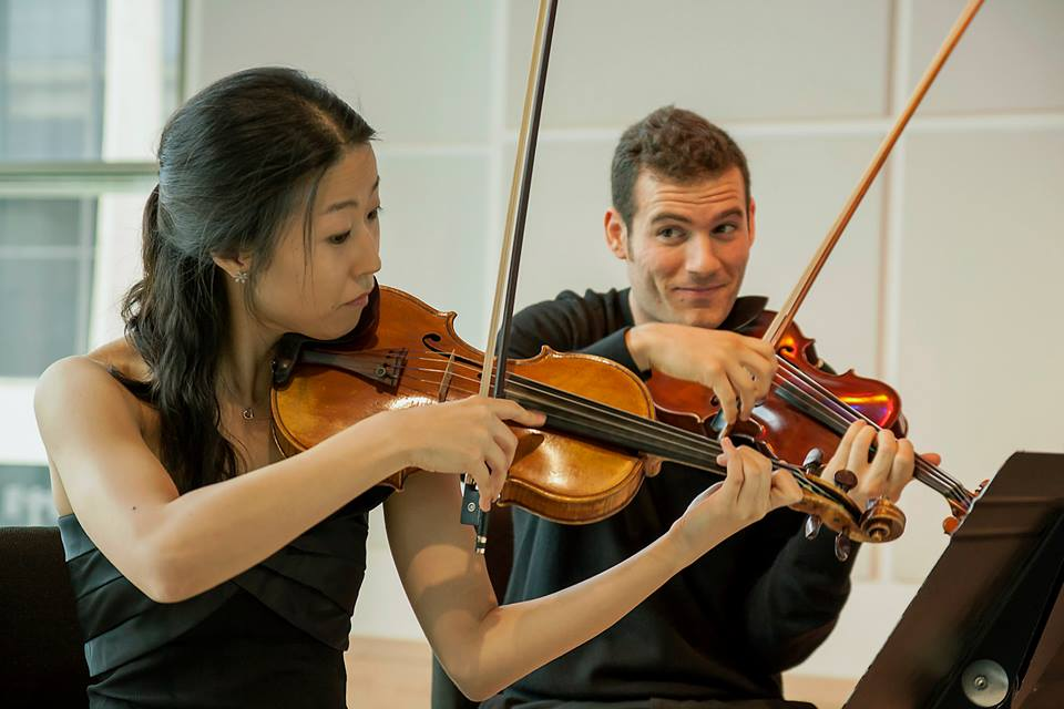 Stony+Brook+students+Yejin+Han+and+Johnathan+Spence+at+the+Ferrara+Chamber+Music+Festival