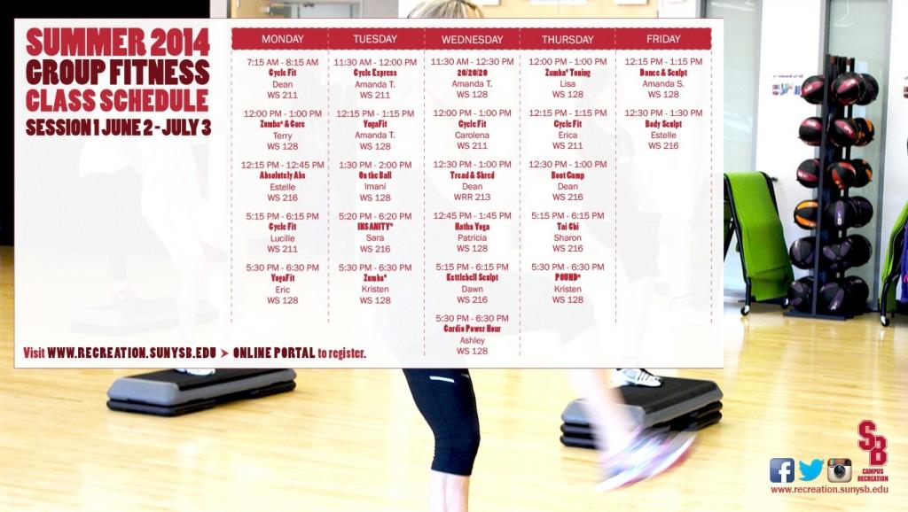 Summer 1 Schedule