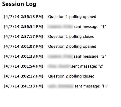 Session Log from Turningpoint