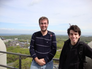 Danny Caputi (right) with Michael Colbert (left)
