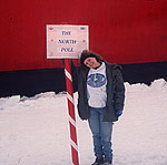 Lisa Clough at the North Pole