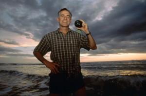 Greg Marshall with his crittercam