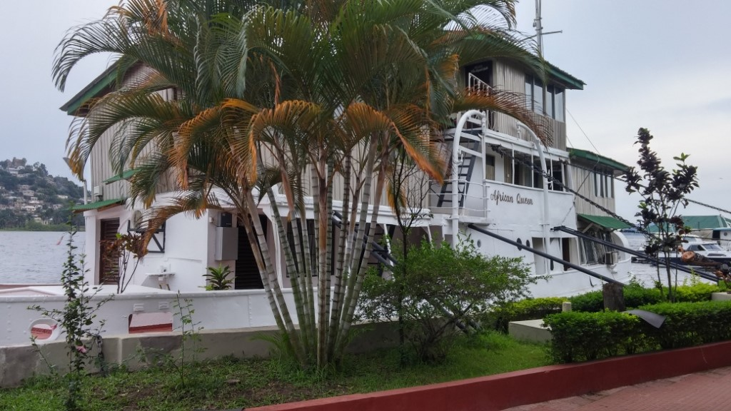It looks better than the original African Queen, permanently anchored at Tilapia Hotel, Mwanza (credits T Wilson).