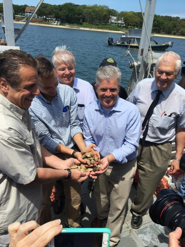 Governor Cuomo with Clams