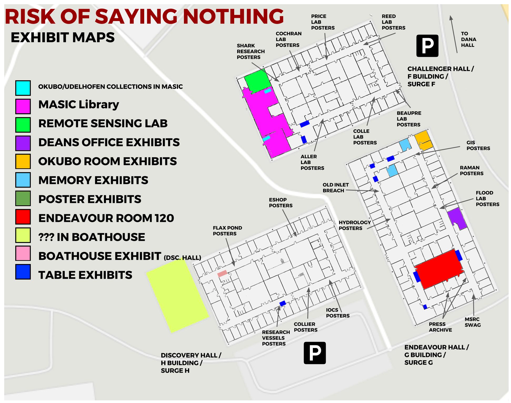 Map of exhibits at SoMAS 50th Anniversary