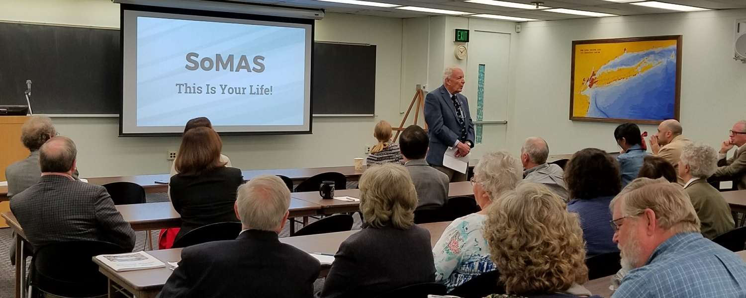 Interim Dean Larry Swanson Welcomes Guests to the SoMAS 50th Anniversary
