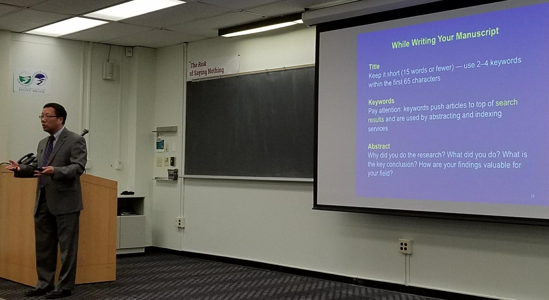 SoMAS Professor and former Dean Minghua Zhang discusses open access publications