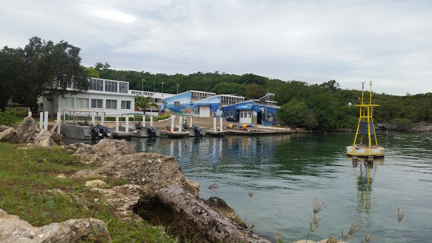 The scuba equipment facility and dock, where all diving and snorkeling activities take place.