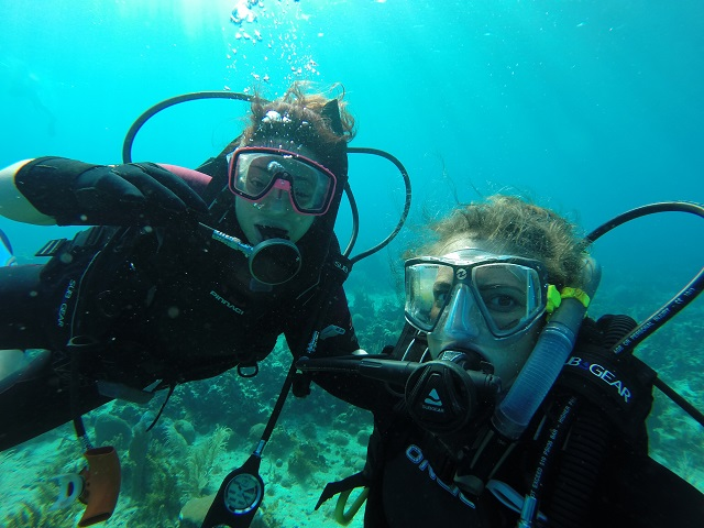 Here are Suzie and I in your typical dive partner selfie.