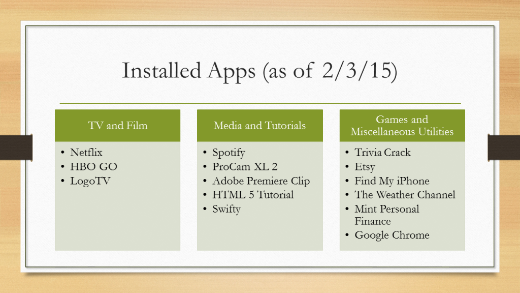 Installed Apps