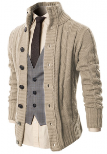 H2H Twisted Knit Cardigan