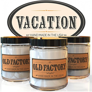 Scented Soy Vacation Candles: Sea Breeze, Hawaiian Lei, and Awapuhi