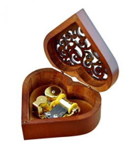 Buy Heart Shape Vintage Wood Carved Mechanism Musical Box at Amazon.com