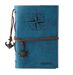 Leather Writing Journal Notebook (MALEDEN)