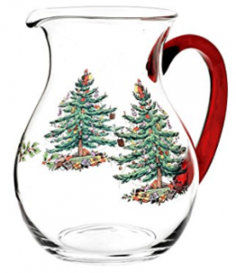Buy Spode Christmas Tree Glass Pitcher with Red Handle at Amazon.com