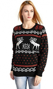 Buy Hanson Women's Patterns Of Reindeer Snowman Christmas Cardigan at Amazon.com
