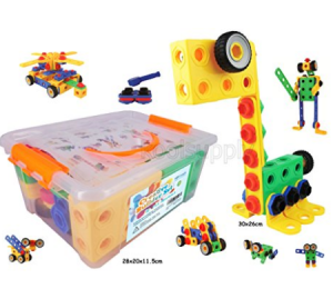 Buy KoolToys 92 Piece Educational Construction Engineering Building Blocks Set at Amazon.com
