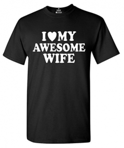 Buy I Love My Awesome Wife T-shirt on Amazon.com