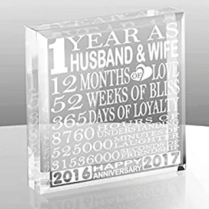 Buy Husband and Wife - Our First Anniversary Gift Paperweight and Keepsake on Amazon.com