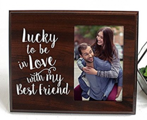 Buy Lucky to be in love Romantic Gift picture frame on Amazon.com