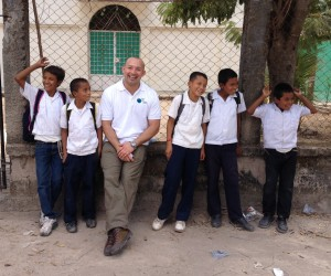 Myself and some of the school children