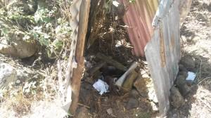 Outdoor latrine