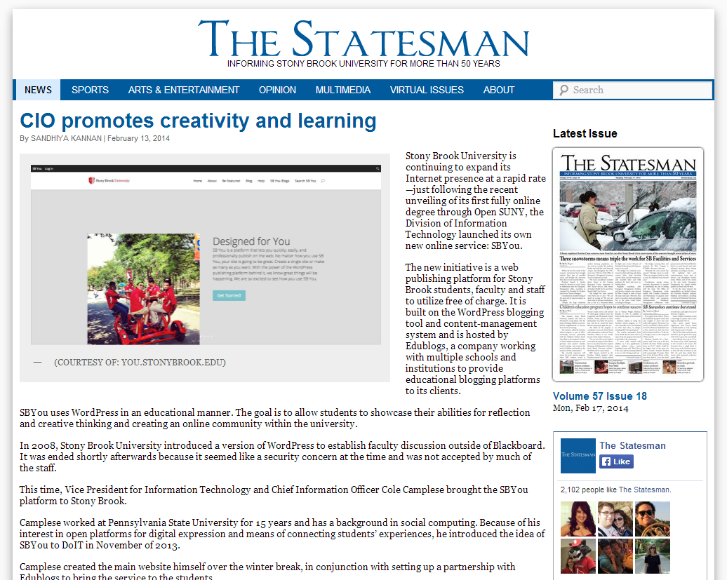 Statesman screenshot