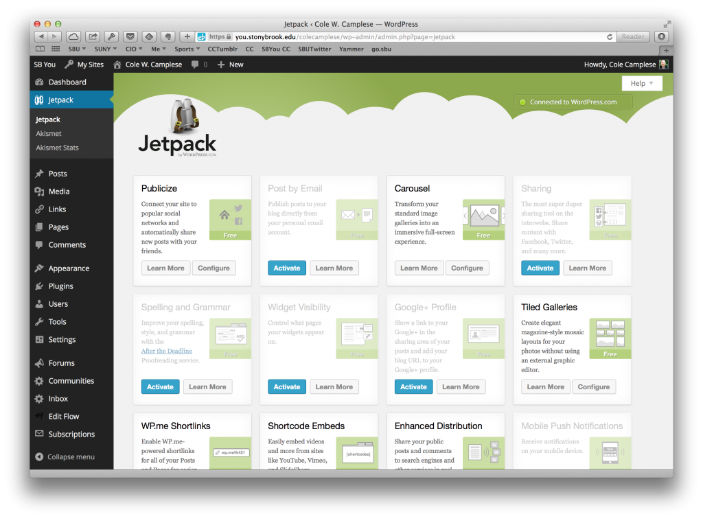 WordPress jetpack plugin screenshot