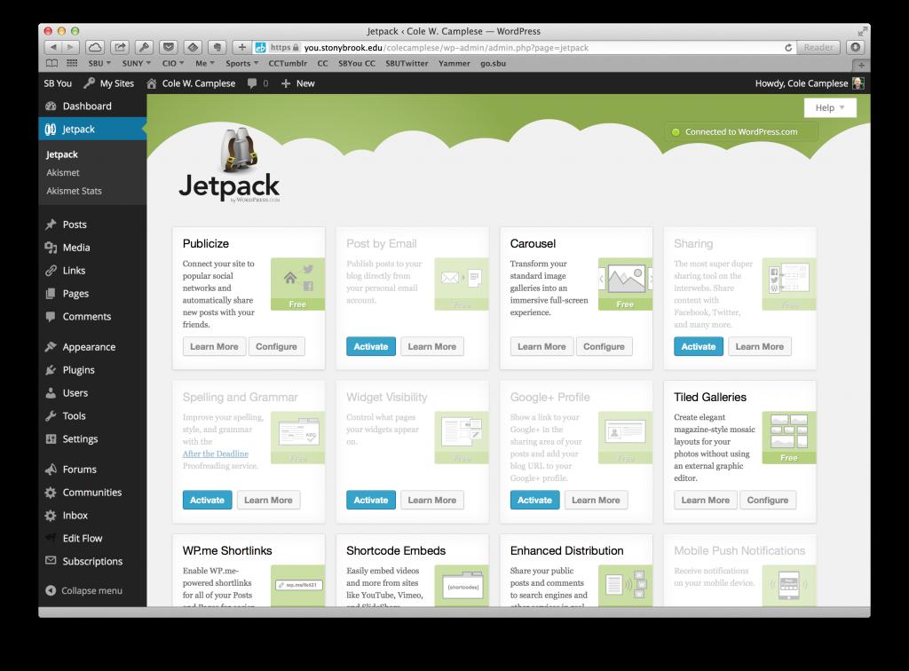 WordPress jetpack plugin screenshot