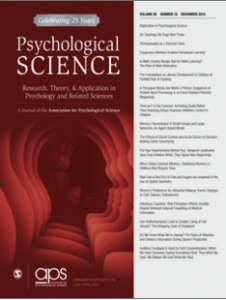 Psych Science Cover